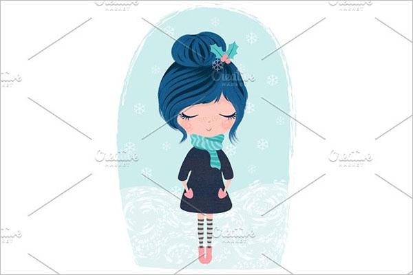 Beautiful Girl Postcard Design