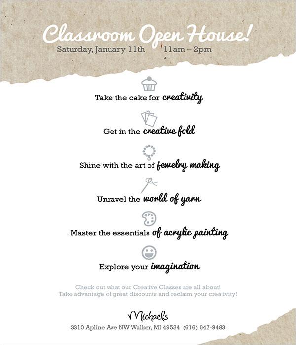Beautiful Open House Flyer Design