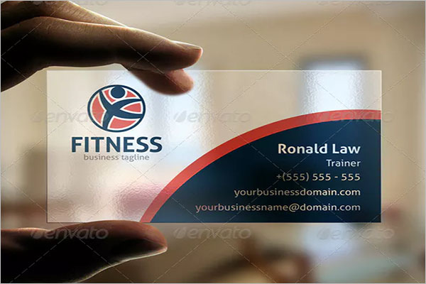 Best Fitness Business Card Design