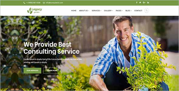 Best Garden Website Template 1