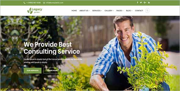 Best Garden Website Template 1