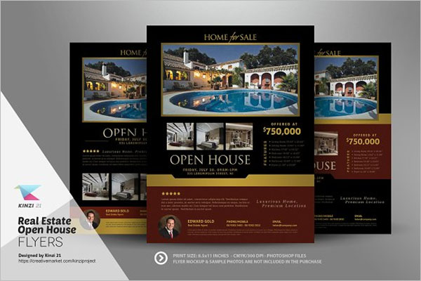 Best Open House Flyers Design