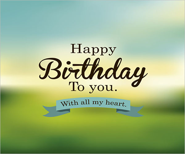 Birthday PostCard PSD Design