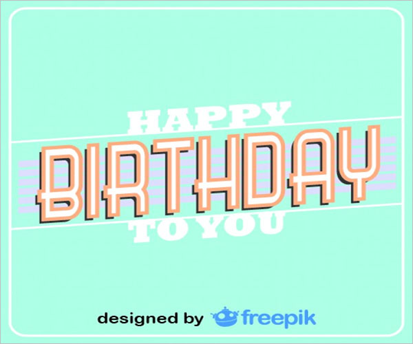 Birthday Postcard Special Design