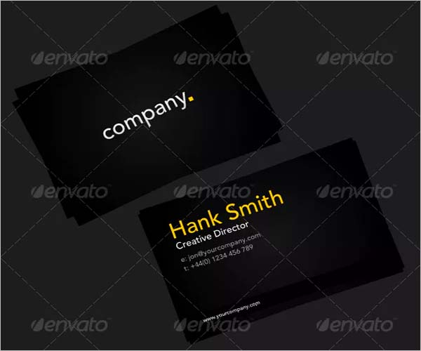 Black Border Business Card Design