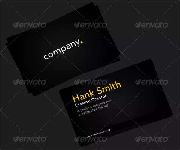 Black Border Business Card Design