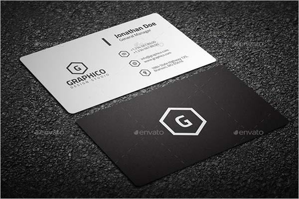 Black Business Card Background Retro