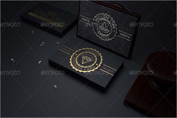 Black Business Card Background Sample