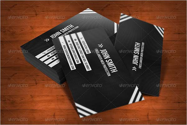Black Business Card Design Download