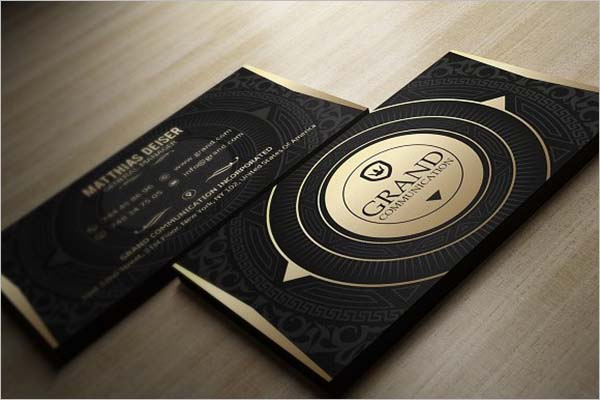 Black Business Card Design Ideas