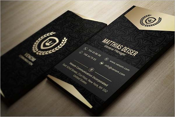 Black Business Card Designs
