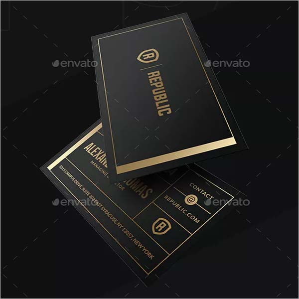Black Business Visiting Card Design