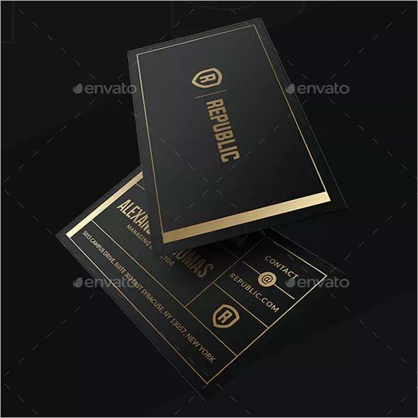 Black Business Visiting Card Design