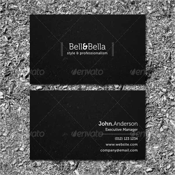 Black Graphic Business Card Design