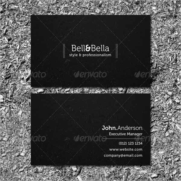 Black Graphic Business Card Design