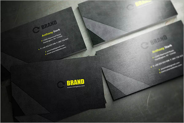 Black Leather Business Card Design