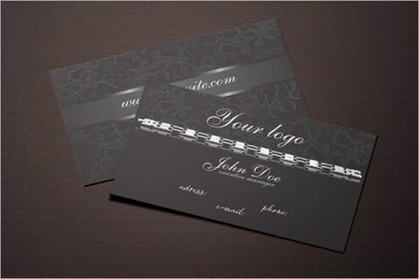 Black Metal Business Cards Design