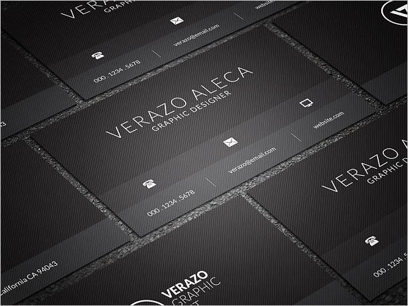 Black Minimal Business Card