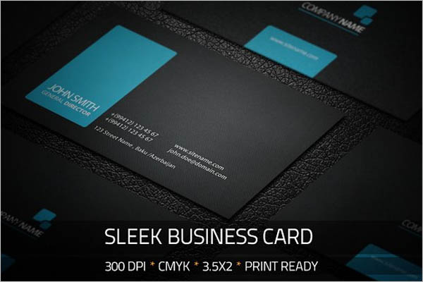 Black Sleek Business Card Design