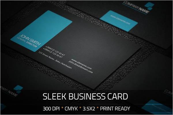 Black Sleek Business Card Design