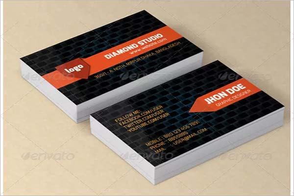 Black Textured Business Card Design