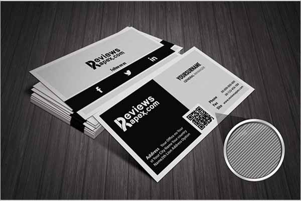 Black & White Texture Design Business Card