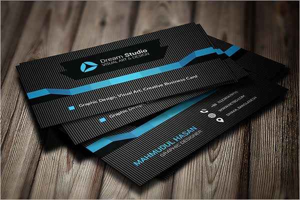 Black and White Business Card Design Free Vector