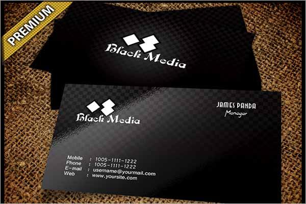 Black company Business Card Design