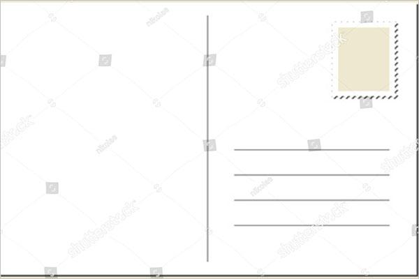 Blank Postcard Free Design