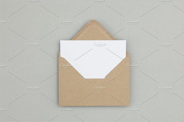 Blank Postcard Information Design