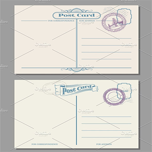 Blank Postcard Sample Design