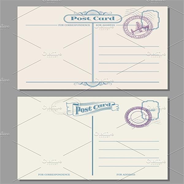 Blank Postcard Sample Design
