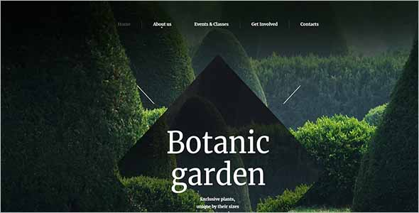 Botanic Garden Website Theme1