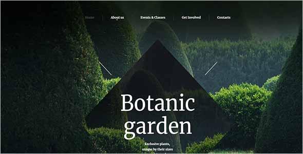 Botanic Garden Website Theme1