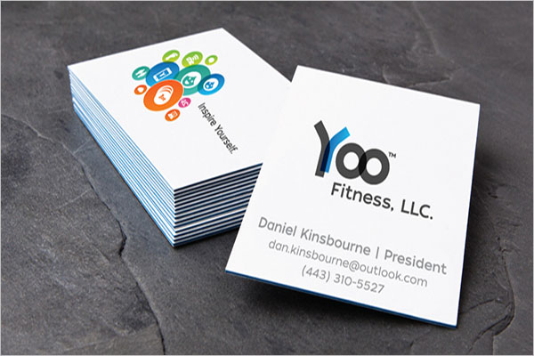 Business Card Design for Fitness Tech Company