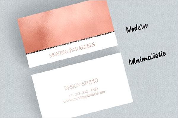 Business Card Rose Gold Design