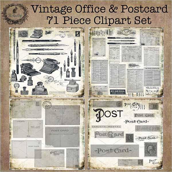 Business Vintage Postcard Template