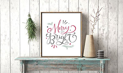 Farmhouse Christmas Lettering Kit
