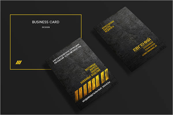 Carbon Metal Business Card Design