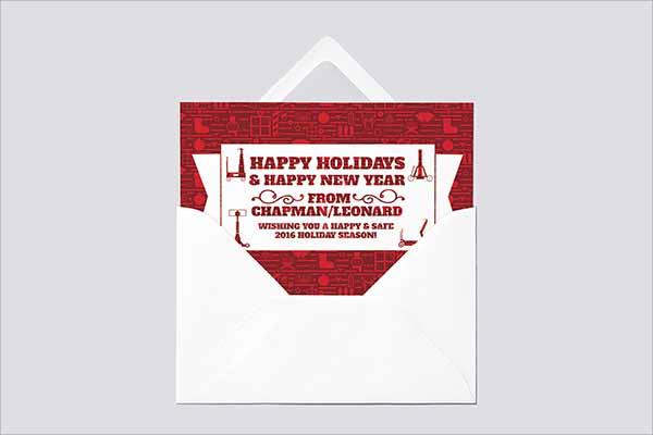 Cheap Holiday Postcard Design