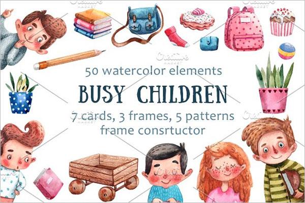 Children Art Design Postcard