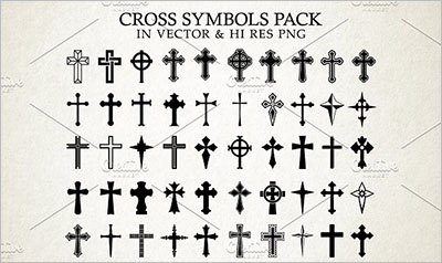 Christian Church Icon Symbols Design