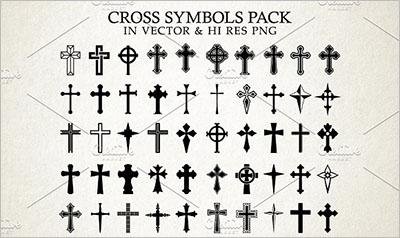 Christian Church Icon Symbols Design