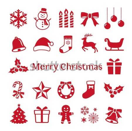 Christmas Icons Vector Designs Sample