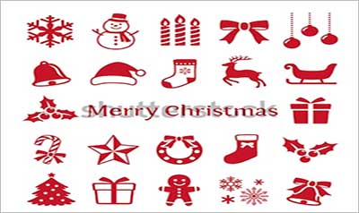 Christmas Icons Vector Designs