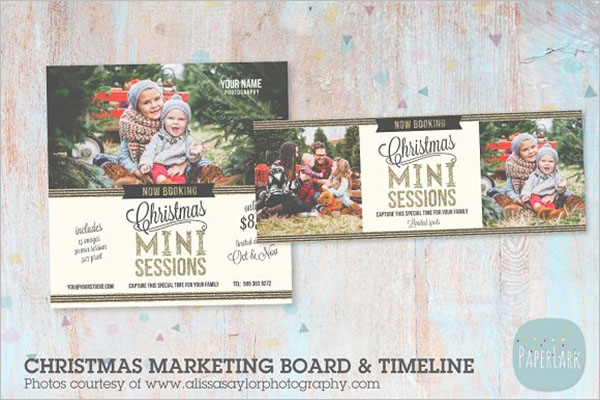 Christmas Marketing Postcard Design