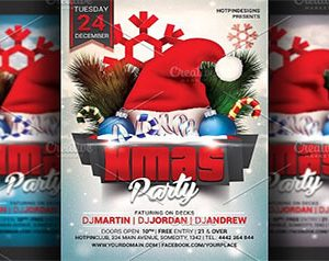 Christmas Party Flyer PSD Templates