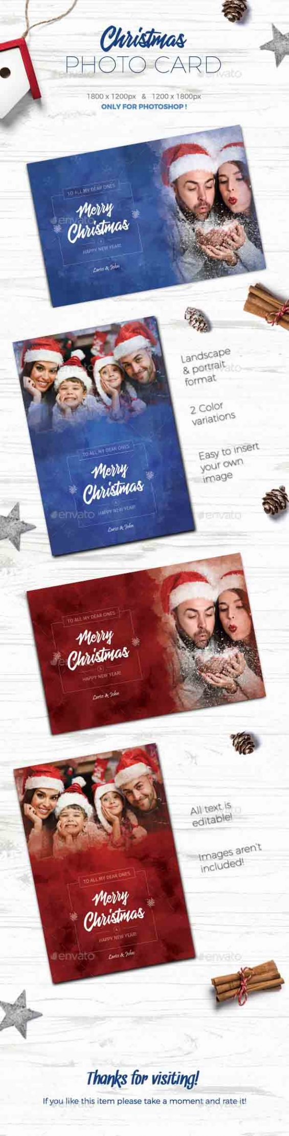 Christmas Photo Card Sample