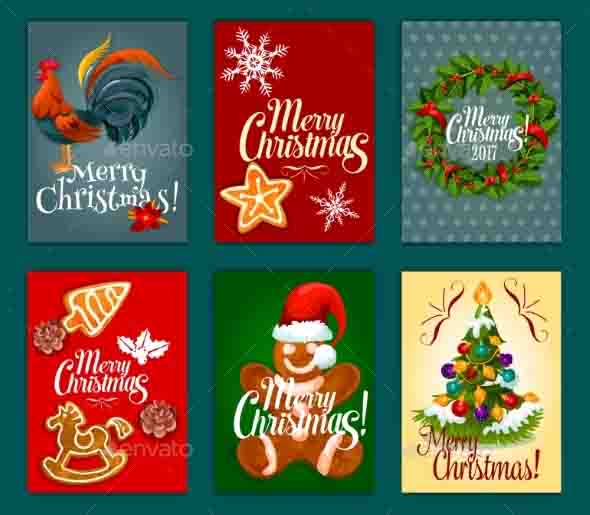 Christmas Rooster Decoration Templates