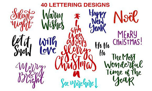 Christmas Tree Lettering Decoration Ideas